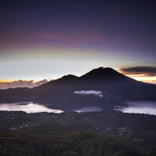 Early morning insight the caldera of Batur, Bali