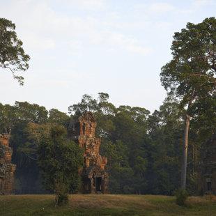 Death towers at sundown
