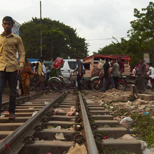 Railway crossing is pure anarchy to a stranger