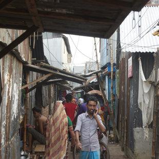 Living area, Koral Slum, Dhaka