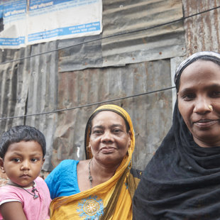 thre generations, Koral Slum, Dhaka